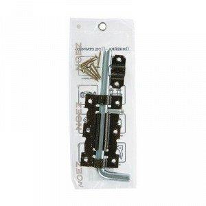 Задвижка дверная ЗД 110-Гб-SL, цвет античная бронза/цинк