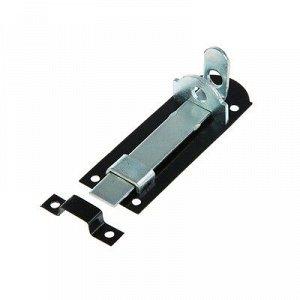 Задвижка дверная плоская, 10 см, d=2 мм, оцинков., крашеная