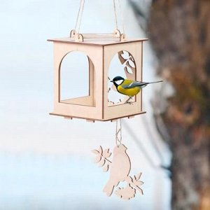 Kopмушка для птиц «Набор №2. Собери и раскрась»