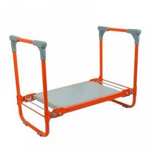 Скамейка-перевёртыш садовая складная 56 х 30 х 42,5 см, оранжевая, максимальная нагрузка 100 кг