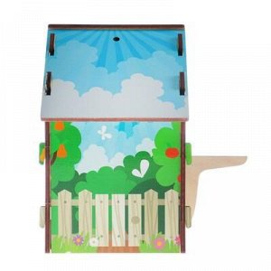 """Скворечник деревянный """"Добро пожаловать, фруктовый сад"""", с цветным рисунком, 19.5?13?19 см"""