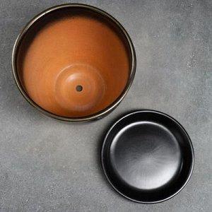 Горшок цветочный Мираж коричнев 5 л
