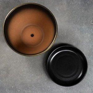 Горшок цветочный Мираж коричнев 1,65 л
