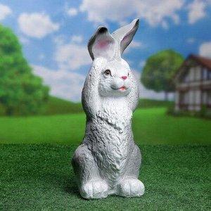 """Садовая фигура """"Заяц ушастый"""" 18х18х42см серый"""