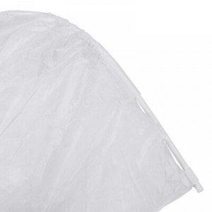 Парник прошитый, длина 4 м, 4 дуги, дуга 2 м, ламинированный спанбонд 60 г/м?, на молнии, «Ананас-Артик»