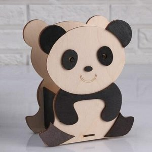 """Кашпо деревянное 15?10?20 см """"Панда улыбака"""""""