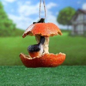 """Подвесной декор """"Кормушка Апельсин"""" 13,5х14см"""