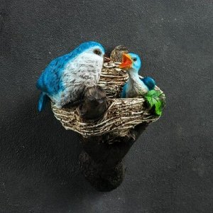 """Подвесной декор """"Птицы в гнезде"""" 12х14х24см"""
