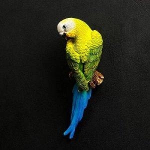"""Подвесной декор """"Попугай волнистый на ветке"""""""