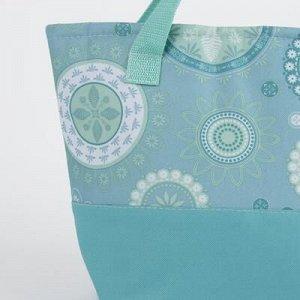 Сумка-термо, отдел на молнии, наружный карман, регулируемый ремень, цвет голубой
