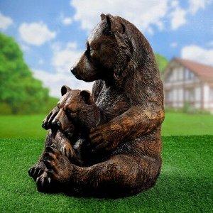 """Садовая фигура """"Медведица с медвежонком"""" АФ0092"""