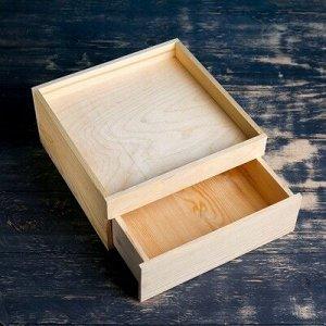 Выдвижной ящик 26.5?26.5?12 см деревянный, натуральный