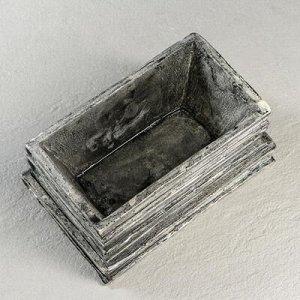 "Кашпо ""Стопка книг"" 1 л, цвет серебро"