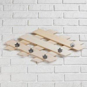 Вешалка, 5 крючков металлических, Ромб, Клён