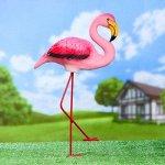 "Садовая фигура ""Розовый фламинго"" 23х14х49см"