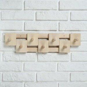 Вешалка деревянная, комбинированная, 7 креплений
