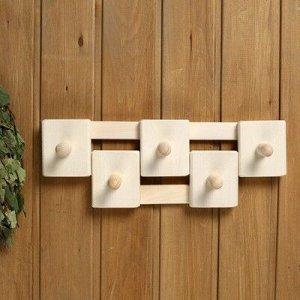 Вешалка деревянная, комбинированная, 5 креплений