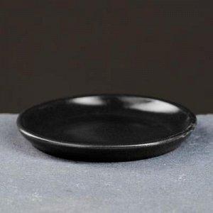 Поддон керамический черный № 2 , диаметр 9,5 см