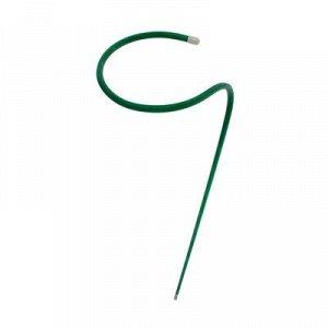Кустодержатель для цветов, d = 30 см, h = 100 см, ножка d = 1 см, металл, зелёный