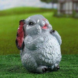 """Садовая фигура """"Заяц серый"""" 21,5см"""