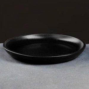 Поддон керамический черный № 5, диаметр 17 см