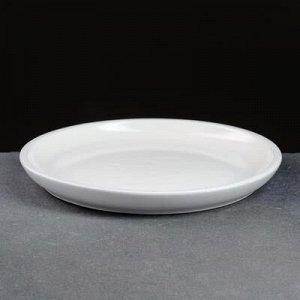 Поддон керамический белый № 6 , диаметр 20,5 см