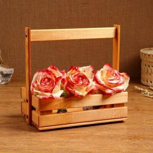 """Кашпо деревянное """"Ящик"""", 23 х 14 см, h = 28 см"""