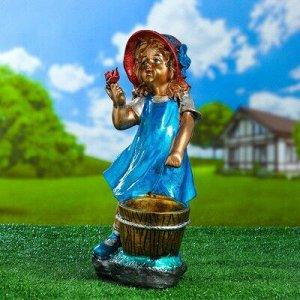 """Садовая фигура """"Девочка помощница"""" бронза, 39 см, микс"""