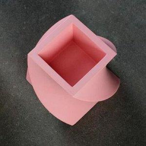 Кашпо Башня, розовое, 12 х 12 х 10 см