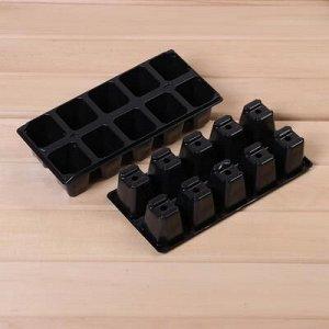 Набор для рассады: стаканы (12 шт.), кассета 10 ячеек (3 шт.), торфяные таблетки 42 мм (30 шт.), поддон