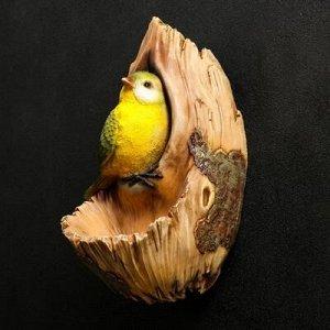 "Подвесной декор "" Птичка в дупле"" 12х14х24см"