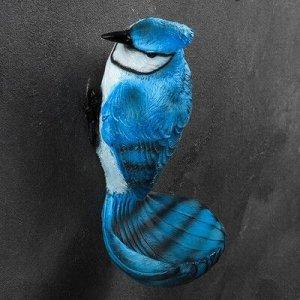 "Подвесной декор - кормушка ""Сойка голубая"" 12х13х24см"