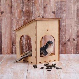 Kopмушка для птиц «Домик малый», 15 ? 14 ? 17 см