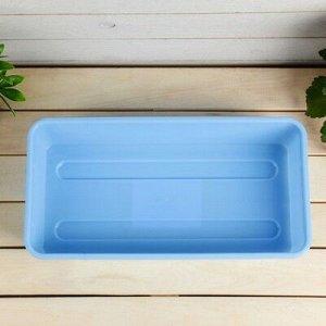 Ящик для рассады, 40 ? 20,5 ? 9,5 см, голубой