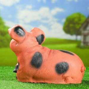 """Садовая фигура """"Свинья лежит на боку"""" 23см"""