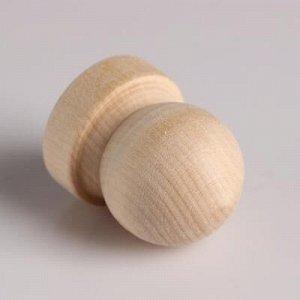 """Ручка деревянная """"Комод"""", h=45 мм, D=37мм"""