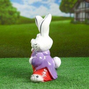 "Садовая фигура ""Заяц с моркошкой"" 28х13,5см"