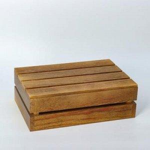 Кашпо деревянное 30?20?10 см, брашированное