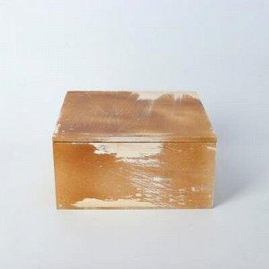 Кашпо деревянное 19?19?10 см, состаренное