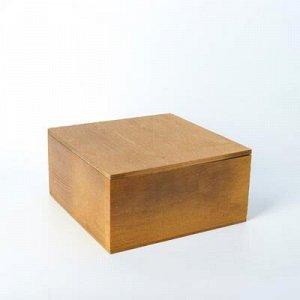 Кашпо деревянное 19?19?10 см, брашированное