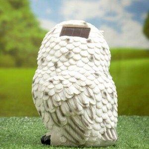 """Садовый светильник """"Полярная сова"""" на солнечной батарее, 19 см"""