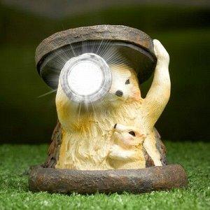 """Садовый светильник """"Ежики"""" на солнечной батарее, 11 см"""