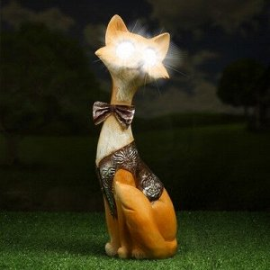 """Садовый светильник """"Лис джентельмен"""" на солнечной батарее, 32 см"""