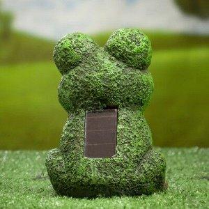"""Садовый светильник """"Лягушка"""" на солнечной батарее, 14,5 см"""