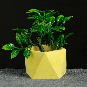 Кашпо Пятиугольник 9 х 6 см желтый