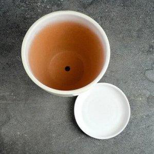 Кашпо с подставкой, цвет сиреневый глянец, 1,15 л