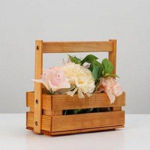 """Кашпо деревянное """"Ящик"""", 23 х 10 см, h = 20 см"""