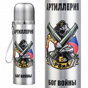 """Металлический термос """"РВиА"""" – """"Артиллерия – Бог войны!"""" №54"""