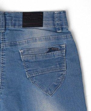 Джинсовые брюки для девочки Цвет: голубой