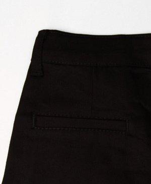 Джинсовые брюки для девочки Цвет: черный
